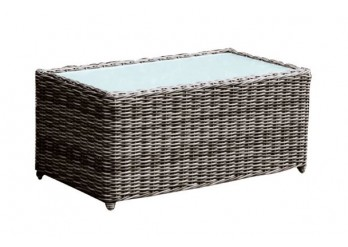 ΤΡΑΠΕΖΑΚΙ GREY BROWN ALU WICKER
